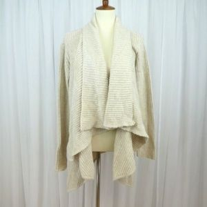 H by Halston QVC Open Front Drape Cardigan Sweater
